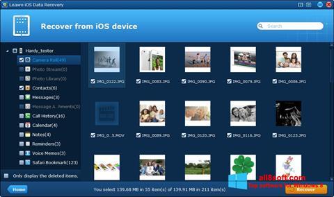 ภาพหน้าจอ iPhone Data Recovery สำหรับ Windows 8
