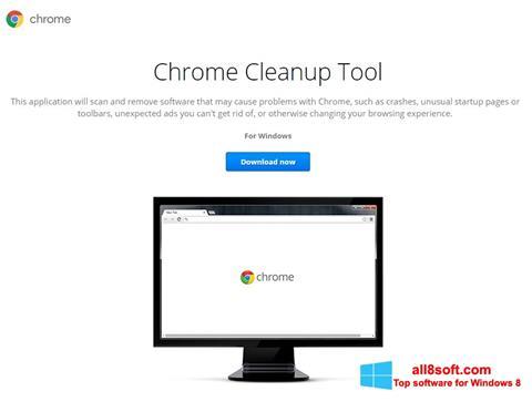 ภาพหน้าจอ Chrome Cleanup Tool สำหรับ Windows 8