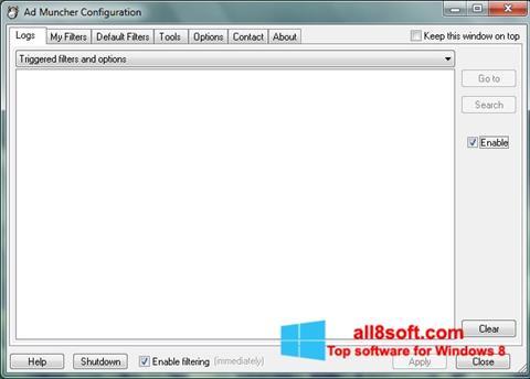 ภาพหน้าจอ Ad Muncher สำหรับ Windows 8