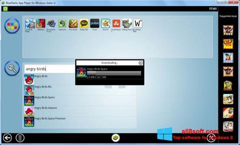 ภาพหน้าจอ BlueStacks สำหรับ Windows 8