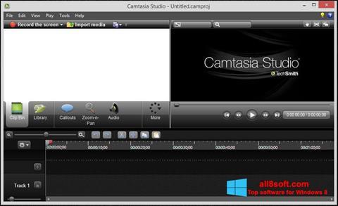 ภาพหน้าจอ Camtasia Studio สำหรับ Windows 8