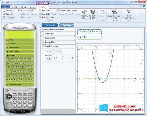ภาพหน้าจอ Microsoft Mathematics สำหรับ Windows 8