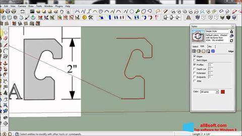 ภาพหน้าจอ SketchUp สำหรับ Windows 8