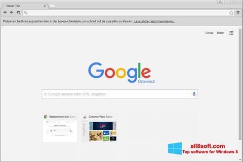 ภาพหน้าจอ Google Chrome สำหรับ Windows 8