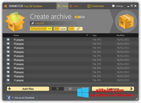 ภาพหน้าจอ Hamster Free ZIP Archiver สำหรับ Windows 8