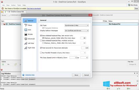 ภาพหน้าจอ GoodSync สำหรับ Windows 8