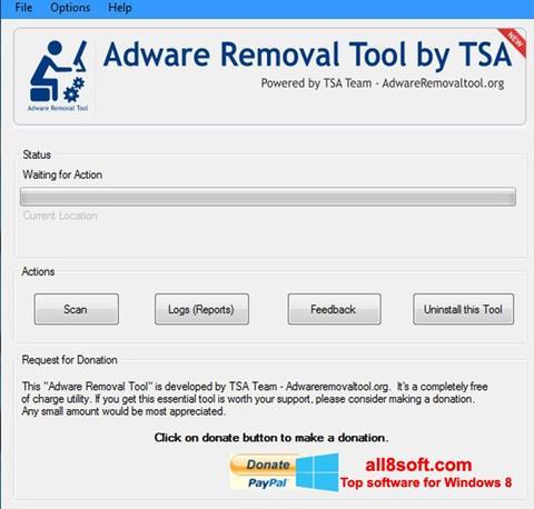 ภาพหน้าจอ Adware Removal Tool สำหรับ Windows 8