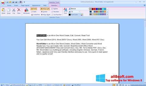 ภาพหน้าจอ DocX Reader สำหรับ Windows 8