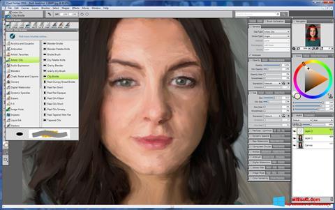 ภาพหน้าจอ Corel Painter สำหรับ Windows 8