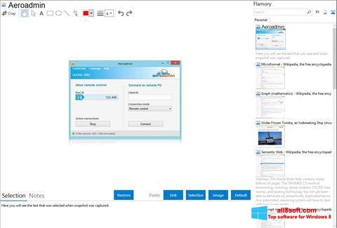 ภาพหน้าจอ AeroAdmin สำหรับ Windows 8