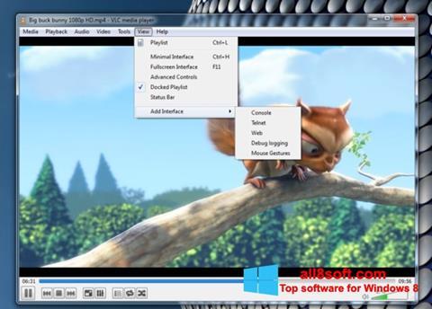 ภาพหน้าจอ VLC Media Player สำหรับ Windows 8