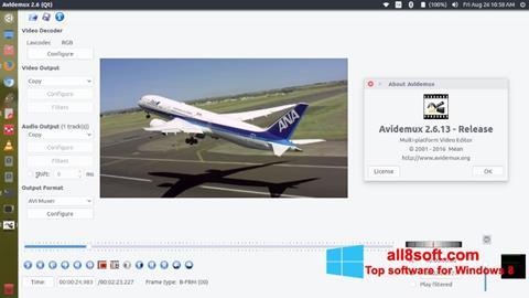 ภาพหน้าจอ Avidemux สำหรับ Windows 8