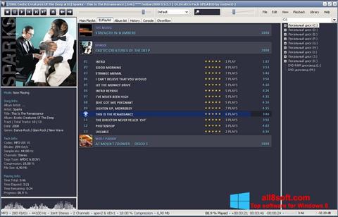 ภาพหน้าจอ Foobar2000 สำหรับ Windows 8